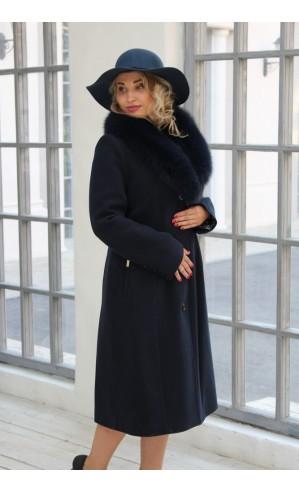 Длинное молодежное пальто