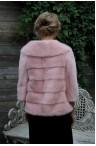 Нежно-розовое норковое болеро