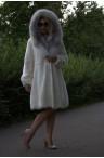 Белая норковая шуба