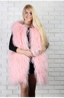 Розовый жилет из ламы
