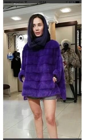 Норковая фиолетовая кофта