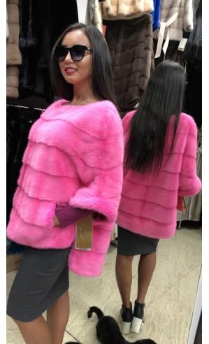Норковая розовая кофта