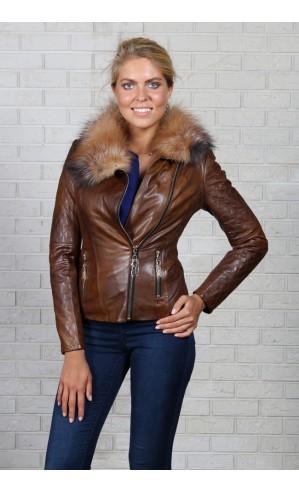 Куртка с воротником из лисы