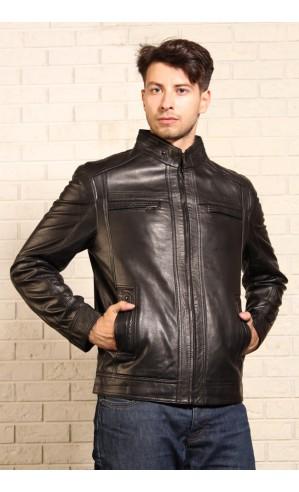 Мужская кожаная куртка Весна-Осень 2015