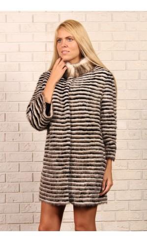 Удлиненная шуба-пальто